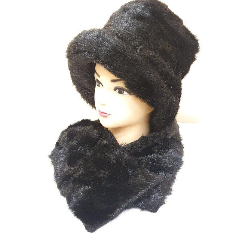 Šilta skrybelė su šalikėliu