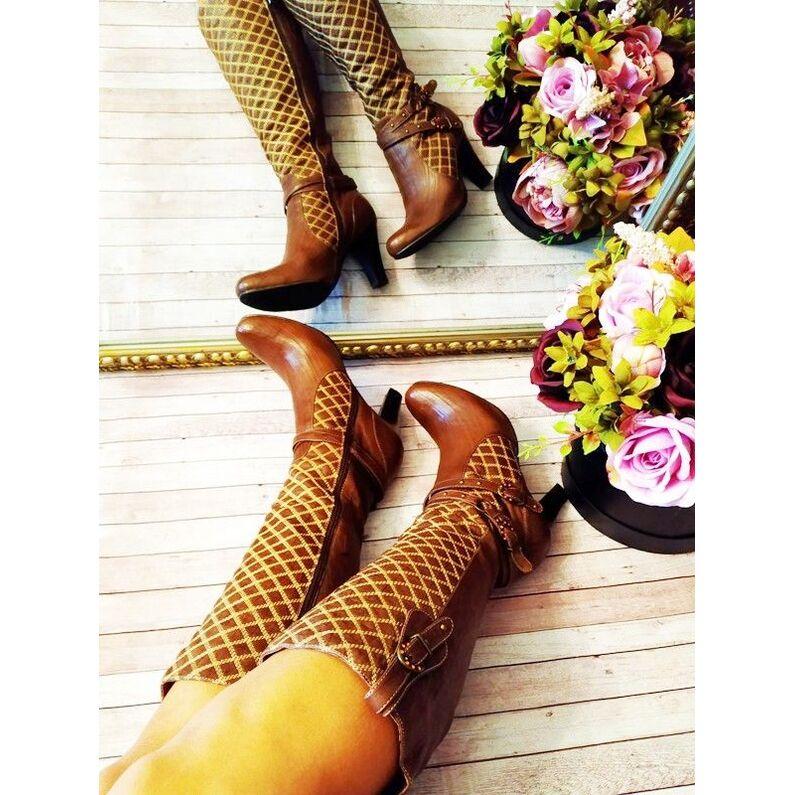 Odiniai rudi batai